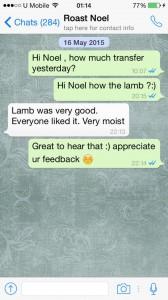 roast lamb testimonial